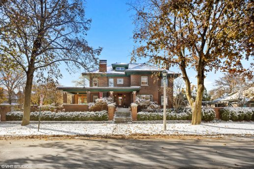 The home at 337 S. Elmwood Ave. in Oak Park was designed with Frank O. DeMoney, whose output was prolific during the first decades of the 20th century, partnering sometimes with his good friend, real estate developer Seward Gunderson. | Photos courtesy of VHT
