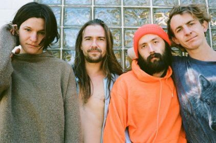 """Big Thief band members (left to right) Adrianne Lenker, Max Oleartchik, James Krivchenia and Buck Meek have had their album U.F.O.F. nominated for a Best Alternative Album Grammy and their song """"Not"""" made Best lists for 2019. 