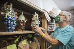 Peter Lenzo struggles with the effects of a past brain injury %u2014 except when he is sculpting. | Alex Rogals/Staff Photographer