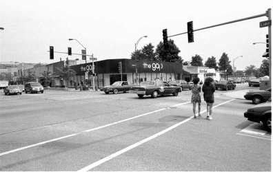 The Gap at Harlem and Lake in the 1980s.