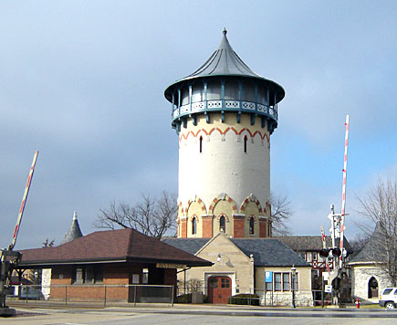 Train Station  Water Tower  Riverside Illinois IL photo