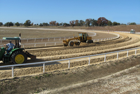 Oak-Ridge-Training-Center-grading dirt track