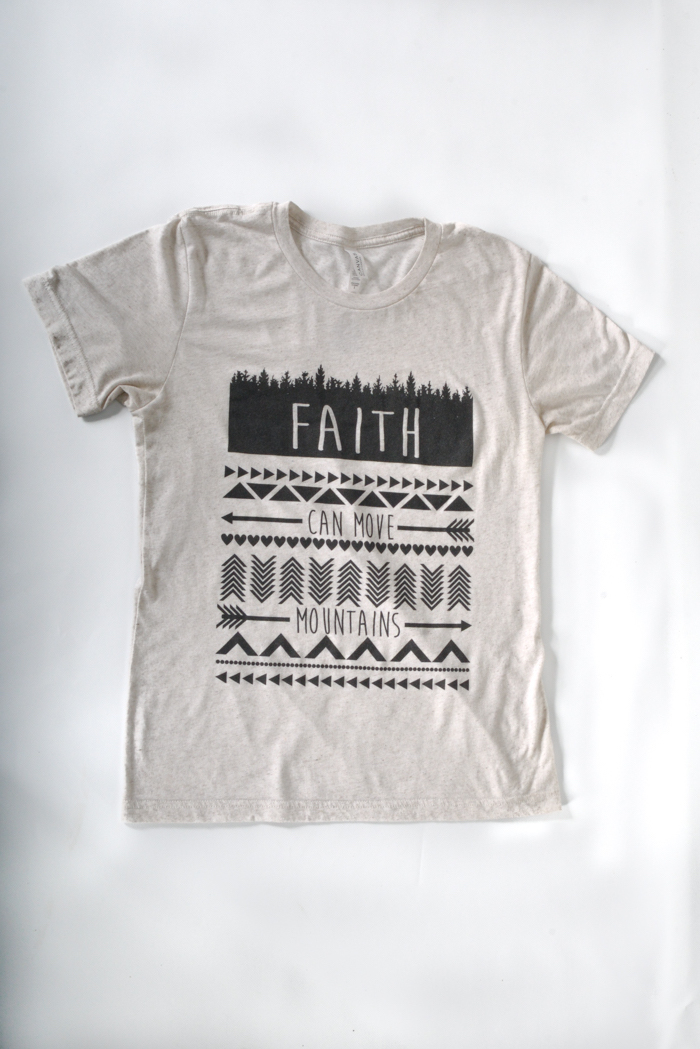 Faith Can Move MountainsT Shirt by the Oak River Company