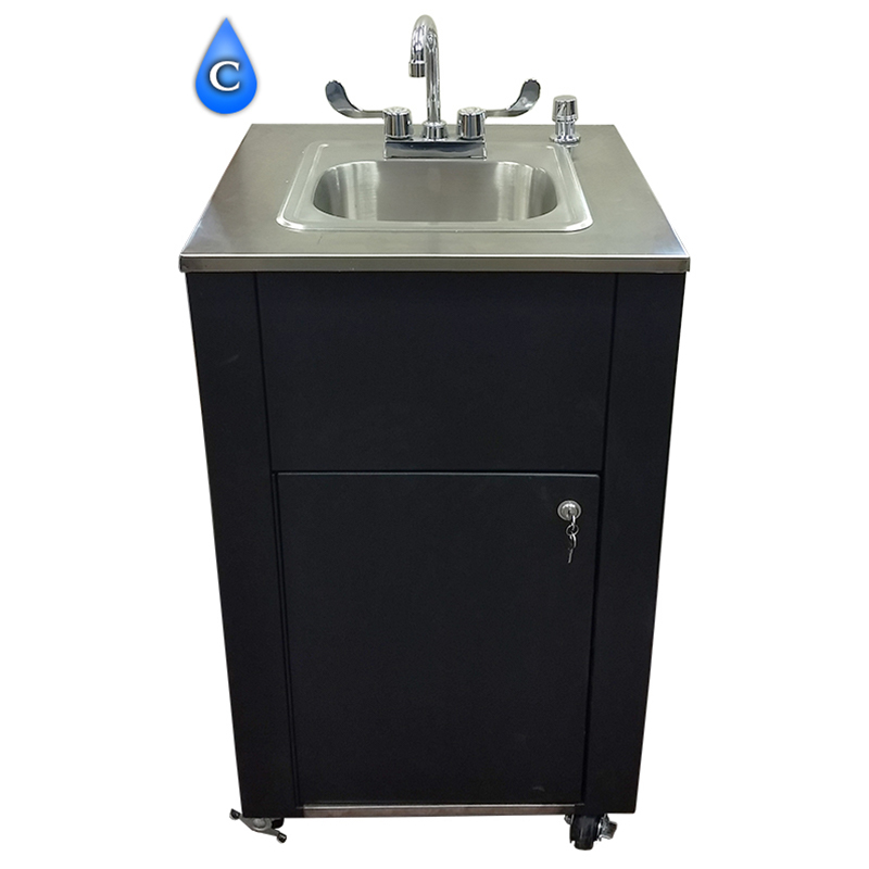 portable hand washing sink station single basin ambient temp water only