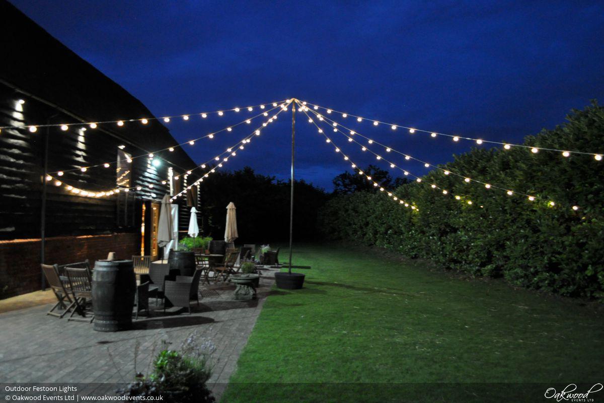 Outdoor Lighting Hire Oakwood Events