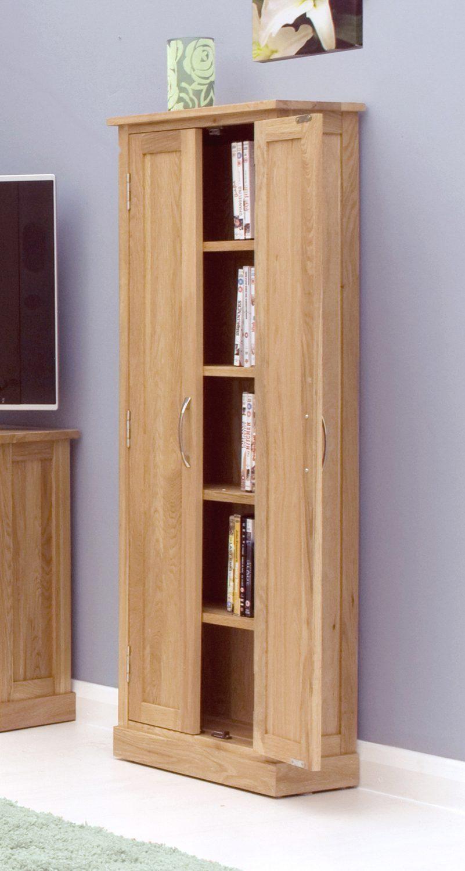 Mobel Oak Cd Dvd Storage Cupboard Oak World