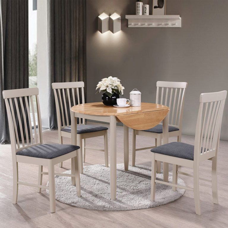 set of 4 chairs navy ready room chair for sale alston painted grey round dining table with oak top