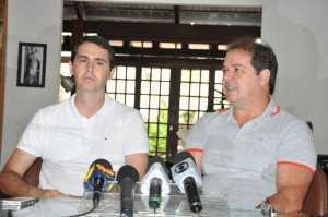 Governador Tião Viana e prefeito Marcus Alexandre anunciam cancelamento do Carnaval (Foto: Cláristom Amorim)