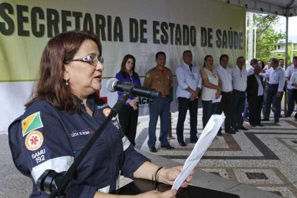 Lúcia Carlos agradeceu o apoio do governador Tião Viana (Gleilson Miranda/Secom)