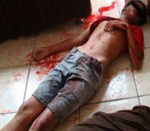O jovem David Rodrigues Silveira, 13 anos, foi assassinado com um tiro de escopeta, calibre ''32