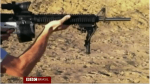 Componente de AR-15 feito em impressora 3D