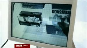 Com o uso de câmeras e tela transparente, sistema possibilita interação entre mão e objetos virtuais em 3 dimensões