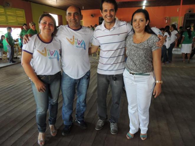 Prefeitos de Brasiléia e Xapuri com suas esposa durante o evento - Foto: Alexandre Lima