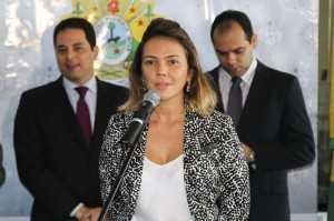 A diretora do Detran, Sawana Carvalho, ressaltou que a parceria já existe há 10 anos (Foto: Gleilson Miranda/Secom)