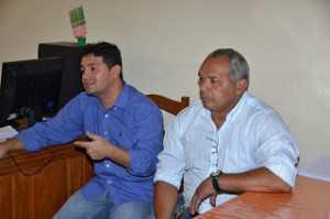 Prefeito André Hassem e seu vice, Raimundo Gondim