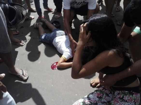 O acidente aconteceu no centro da cidade de Tarauacá, no interior do Acre/Foto: Blog do Accioly