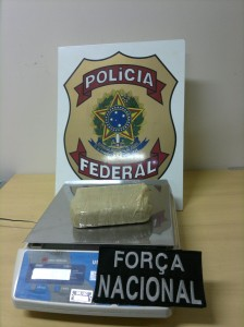 Droga apreendida pela PF e Força Nacional na BR 317