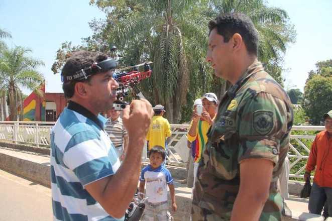 Militar abordou e tentou levar o equipamento para o Quartel Naval no lado boliviano - Foto: Alexandre Lima