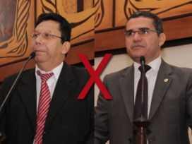 Deputados Edvaldo Souza (à esquerda) e Jamyl Asfury