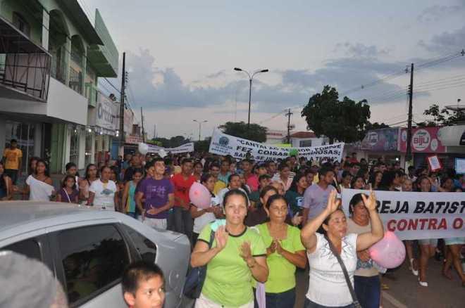 Marcha para Jesus contou com a participação de muitos fieis - Assessoria