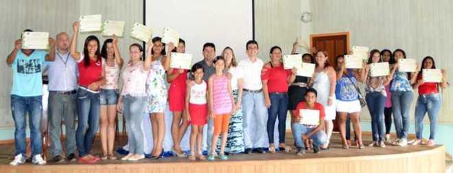 Alunos foram qualificados em cursos oferecidos pelo IFAC, em parceira com a prefeitura de Eptiaciolândia - Foto: Wesley Cardoso