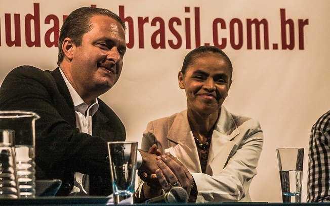 Eduardo Campos e Marina Silva durante reunião programática do PSB e Rede -  Taba Benedicto/Futura Press