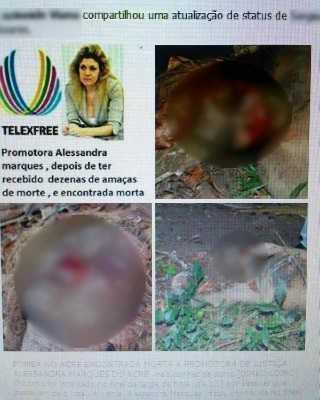 Imagem foi divulgada anunciando morte da promotora (Foto: Reprodução/Facebook)