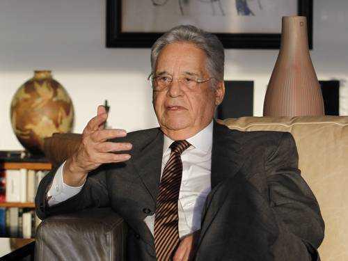 O ex-presidente Fernando Henrique Cardoso, em entrevista ao GLOBO no ano passado - Foto: Michel Filho / O GLOBO
