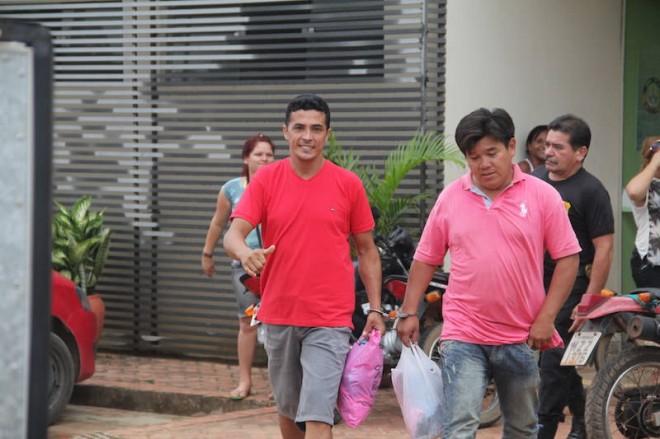 Alberto da Silva (38) que estava na companhia do boliviano, Jean Yoga Otero (38), no roubo da máquina - Foto: Alexandre Lima