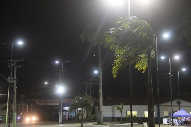 Ventos fortes chegaram na fronteira anunciando a chegada da frente fria - Foto: Alexandre Lima