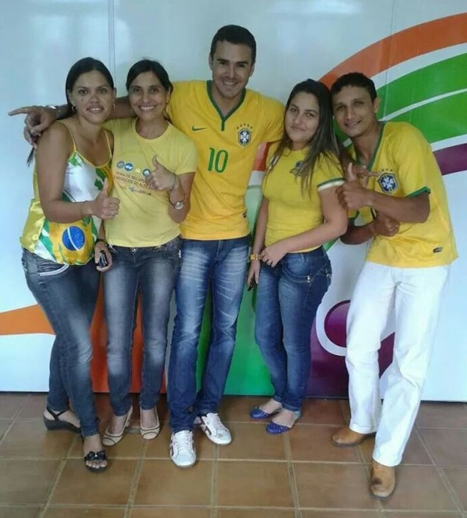 Literalmente torcendo pelo Brasil - Foto: cedida