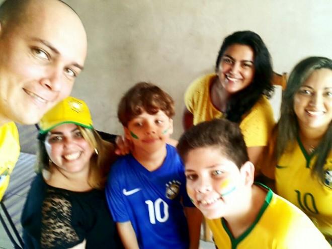 Família unida pela Seleção Brasileira