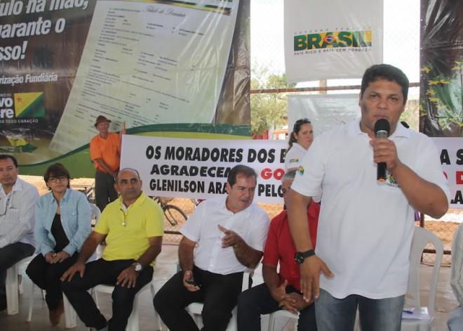 Presidente do Iteracre, Glenilson Figueiredo, falou da importância da entrega dos títulos em Brasiléia - Foto: Alexandre Lima
