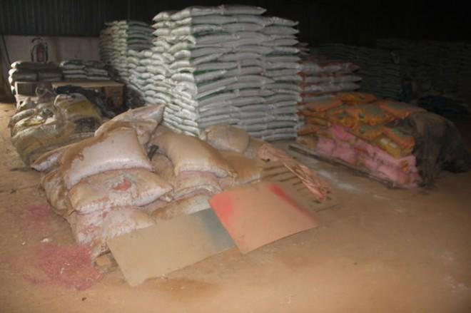 Sacos de sementes que eram pra ter sido distribuídos ao homem do campo, se estragaram no armazém pela negligencia de quem deveria ajudar - Foto: Alexandre Lima