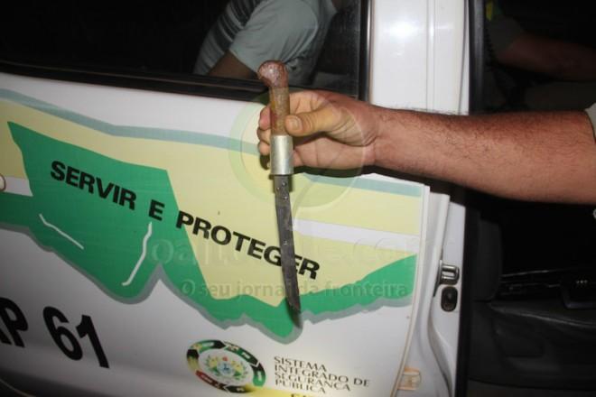 Arma usada no crime foi localizada era da vítima - Foto: Alexandre Lima