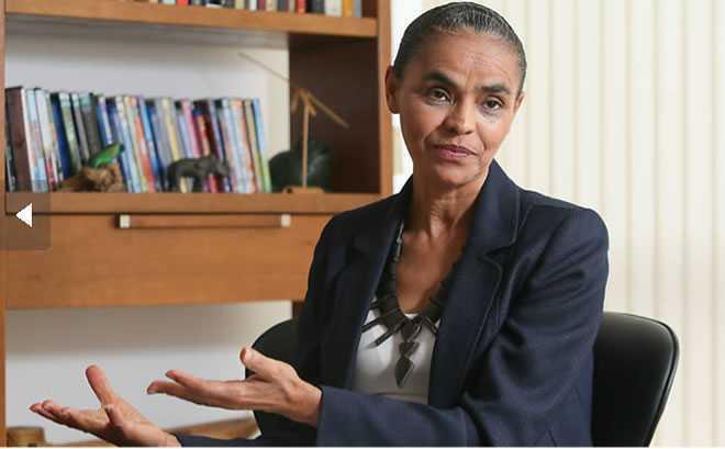 Marina Silva fala em entrevista exclusiva à Folha, em Brasília – Foto: Sérgio Lima/Folhapress