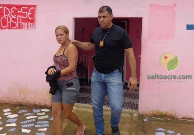 Maria Almeida de Lima, foi detida após o cerco dos agentes.