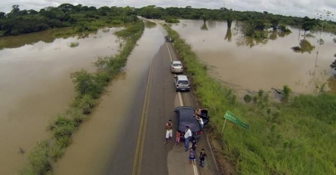 Dnit afirma que existe previsão de aumento para o nível do rio, mas fora de proporções alarmantes/Foto: Divulgação