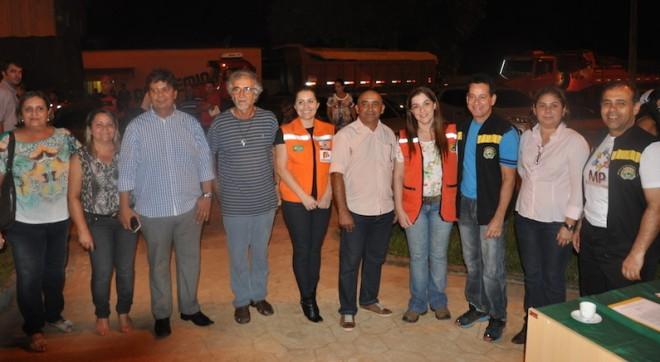 Prefeito e equipe recepcionou a vice governadora, além de representantes do MP, TJ/Acre e Defensoria Pública no ato da entrega - Fotos: Lair Sabino