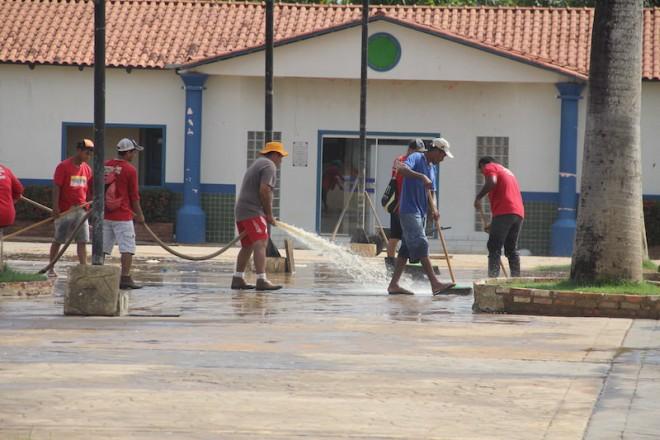 Praça Ugo Poli foi uma das últimas limpezas realizadas pelo órgão do Estado - Foto: Alexandre Lima