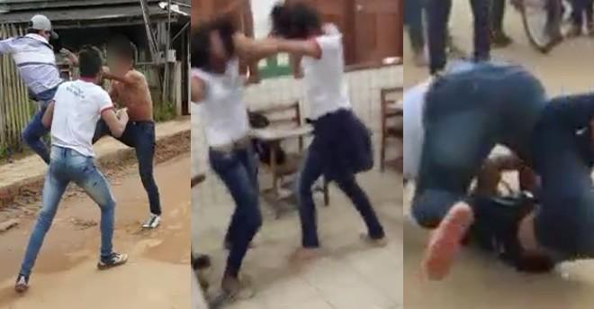 brigas alunos1