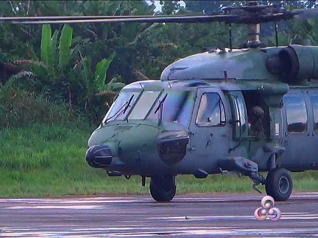 FAB enviou aeronave para fazer resgate de vítimas após desaparecimento de helicóptero (Foto: Reprodução/Rede Amazônica)