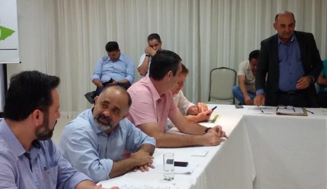 Em reunião como Ministro do Esporte George Hilton e o deputado Federal Alan Rick em Rio Branco, capital do Acre.