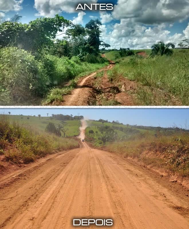 ramal picadao antes e depois