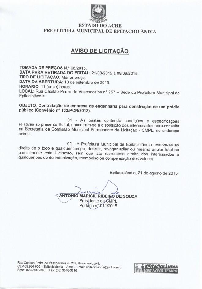 Aviso de Licitação_TP 08 2015_1