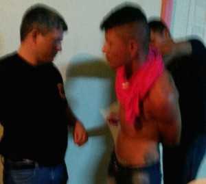 Momento de sua prisão em Rio Branco.