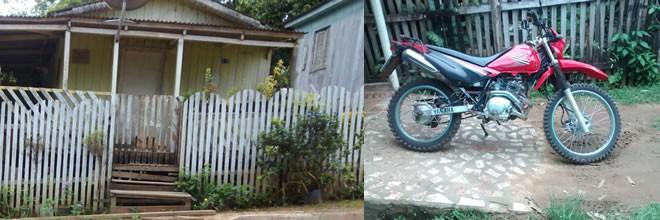 Casa e a moto que Raimundo está vendendo para comprar o remédio. Contato: 9962-1237