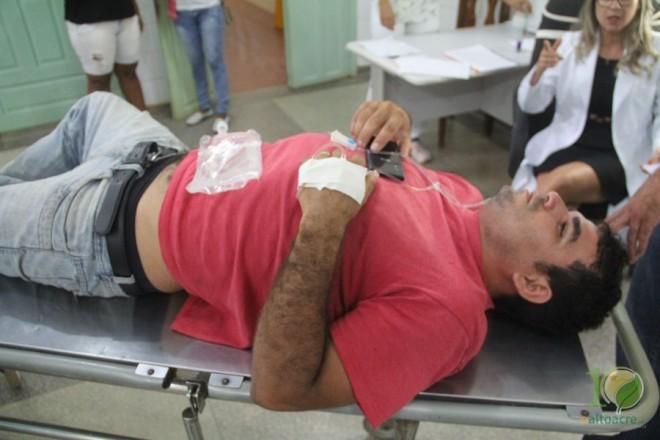 Geovane foi levado para o hospital de Brasiléia e ficou em observação - Foto: Alexandre Lima