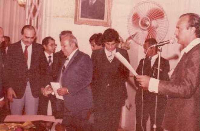 Dia de sua nomeação como prefeito de Brasiléia - Foto: arquivo/familiar