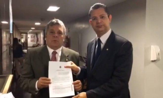 Alberto Fraga (DEM-DF) e Sóstenes Cavalcante (DEM-RJ) – Reprodução